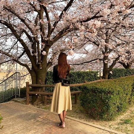 いずみちゃんと桜。